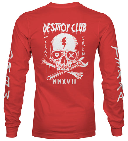 DESTROY CLUB - RED LONG SLEEVE