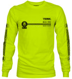 HIGH VIS CHECKERED - LONG SLEEVE NEON UNISEX