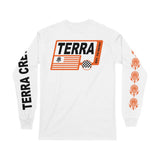 RACE FLAG - WHITE LONGSLEEVE