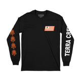 RACE FLAG - BLACK LONGSLEEVE