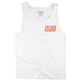 RACE FLAG - WHITE TANK