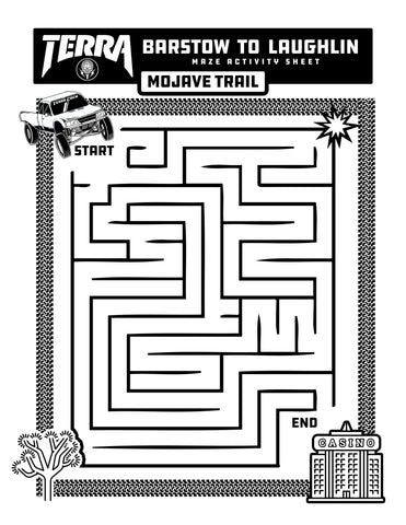 MAZE ACTIVITY SHEET - MOJAVE TRAIL