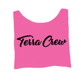 WOMANS CROP TOP PINK/BLACK
