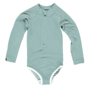 Beach and Bandits Laguna Ribbed Mint Suit