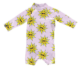 Beach and Bandits Sunny Flower baby suit
