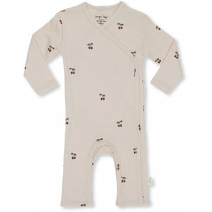 Konges Slojd Newborn onesie Cherry Blush