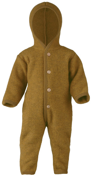 Engel Natur Hooded overall with wooden buttons Saffran