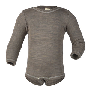 Engel Natur Baby Body Longsleeve Walnut