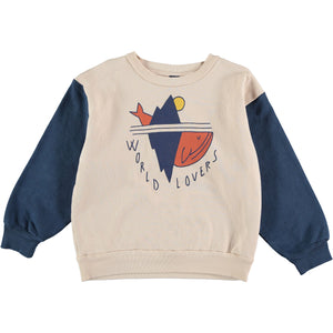 Bonmot Sweatshirt World Lovers, Navy