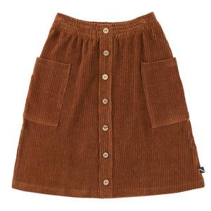 CarlijnQ Basics- Midi Skirt with Buttons ans Pockets