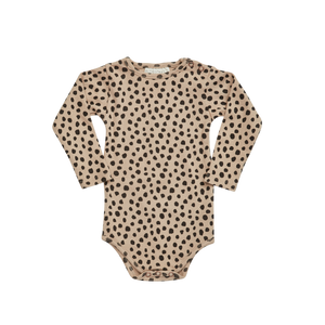Blossom Kids Ribbed Body, Animal Dot, Warm Sand