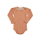Blossom Kids Ribbed Body with Lace, Deep Toffee
