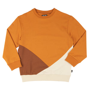 CarlijnQ Basics-  Sweater Block (Multi Brown)