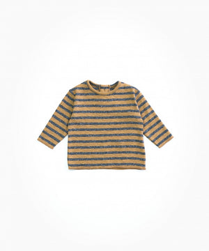 Play up Striped Rib T-shirt