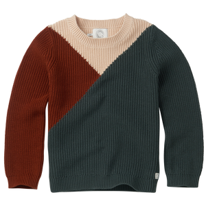 Sproet & Sprout Sweater Colourblock Dusty Green