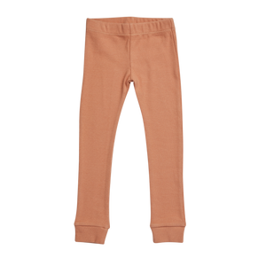 Blossom Kids Legging rib, Deep Toffee