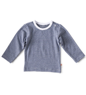 Little Label baby shirt lange mouw - small stripe navy