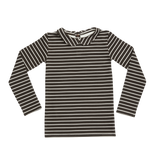 Blossom Peterpan, Longsleeve shirt, Petit Stripes, Espresso Black