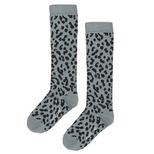 Maed for mini Blue Leopard Knee socks
