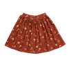 Blossom Kids Skirt, Festive Floral, Dusty Terra
