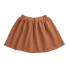 Blossom Kids Skirt, Leave Drops, Caramel Fudge