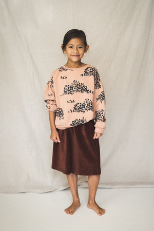Lotiekids Skirt Corduroy Solid Rust Brown