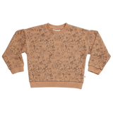 Blossom Kids Sweater, Autumn Forest, Almond