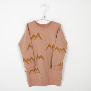 Lotiekids Long Sweatdress Mountains Warm Pink