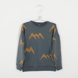 Lotiekids Sweatshirt Mountains Dark Grey