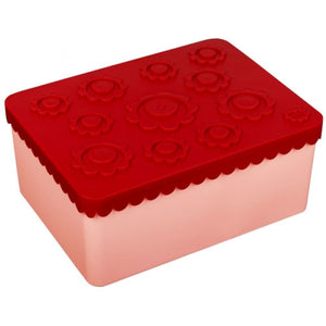 Blafre Lunchbox flower red - pink