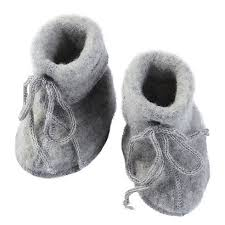 Engel Natur Baby Booties grey