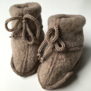 Engel Natur Baby Booties Walnut