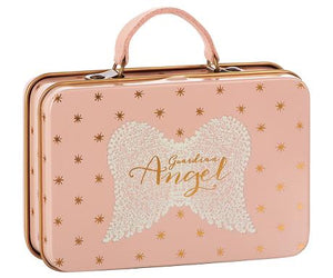 Maileg Metal suitcase Rose gold dots