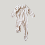 Susukoshi Organic Zip Growsuit L/S. Cotton Speckled/ Pre-Order