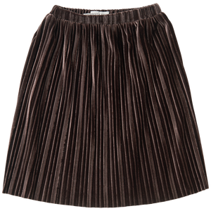 Sproet & Sprout Skirt Velvet Pleats Chocolate