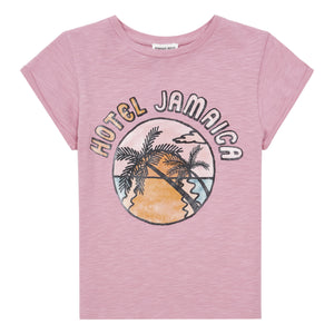 Hundred Pieces Hotel Jamaica Organic Tshirt Pink
