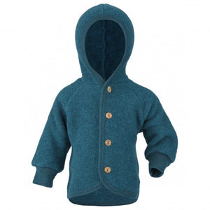 Engel Natur Hooded Jacket with wooden buttons te