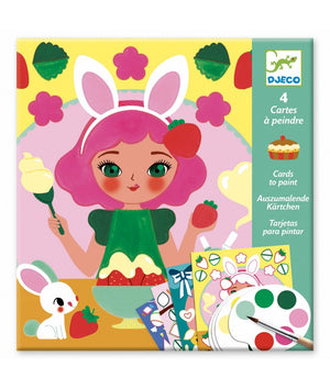 Djeco Cards to paint snacktime