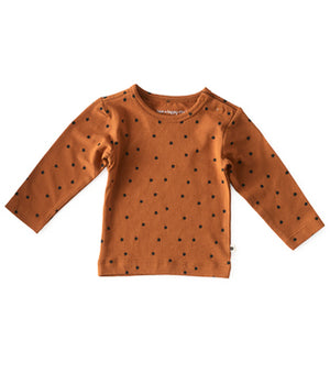 Little Label baby shirt lange mouw - copper clover