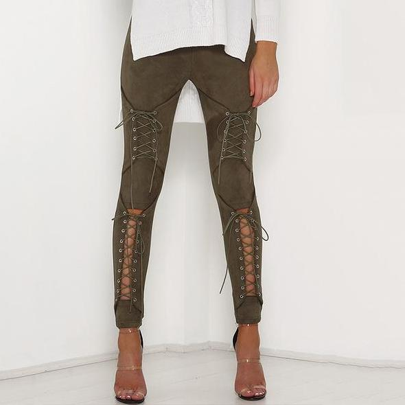 Lace up II pants