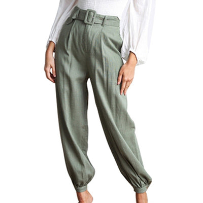 Autumn high waist pants