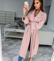 Pretty in pink trench