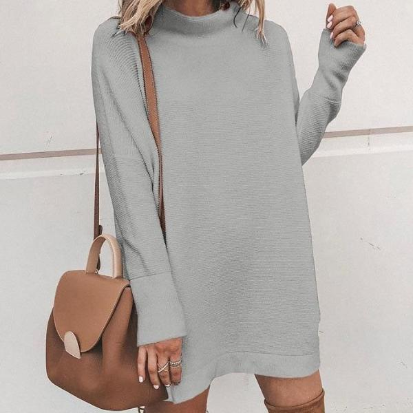 Turtleneck loose dress