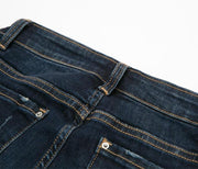 Mid Waist Dark Wash Slim Stretch Jeans