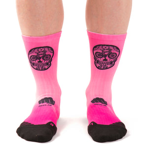 Calcetines ciclismo Dead pink