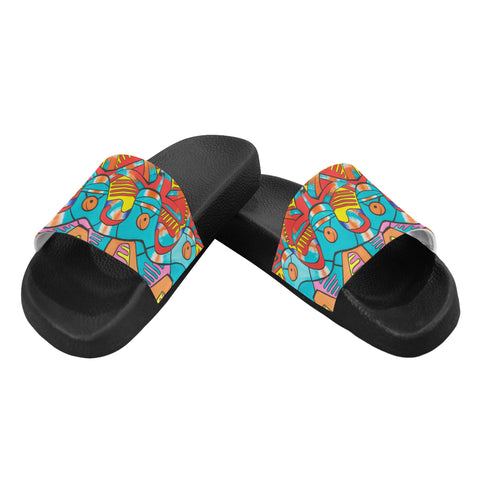 Happy Feeling- Men's Slides (Large)