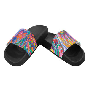 Enlightened Couple- Men's Slides (Large)