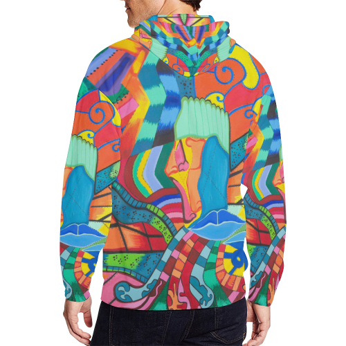 Path of Color - Zip up Hoodie