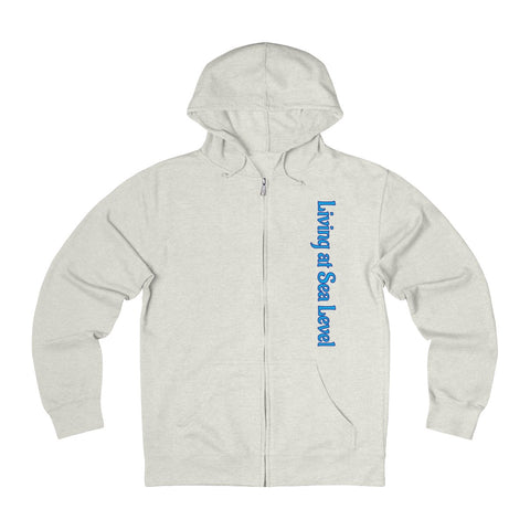 Living at Sea Level - Unisex French Terry Zip Hoodie