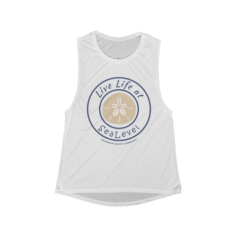 Sand Dollar Scoop Muscle Tank
